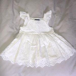 Baby Gap White Eyelet Dress